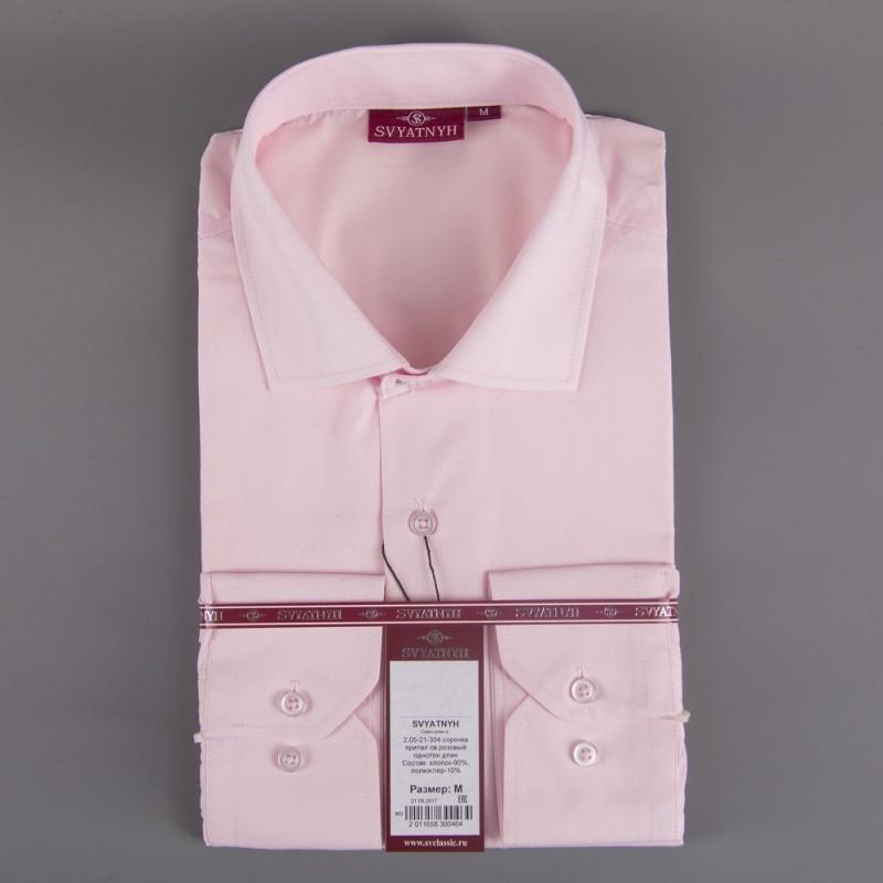 2.05-21-304 сорочка притал св.розовый однотон длин