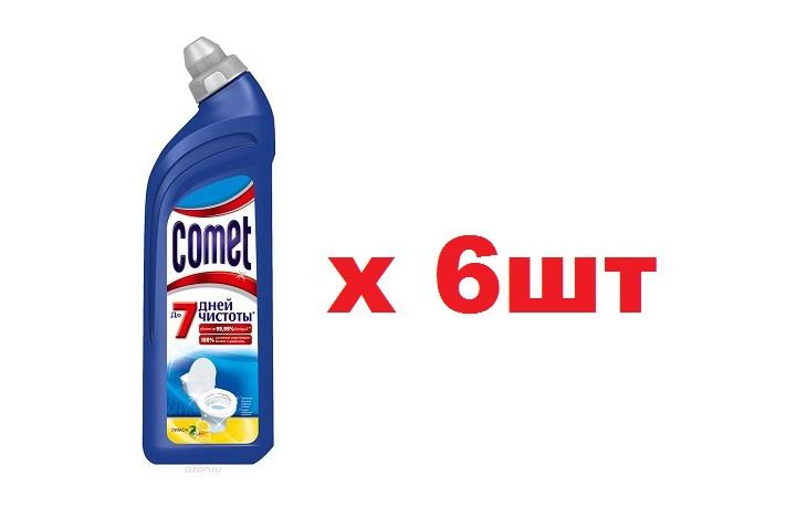 Comet для туалета 750мл Лимон 6шт