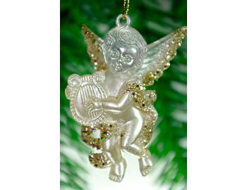 Ангелочек жемчужно-золотой 150978