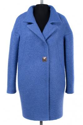 01-6696 Пальто женское демисезонное Букле Голубой
