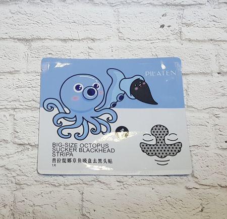 Пластырь от черных точек большой на нос,лоб и щеки Рilaten big size octopus sucker blackh
