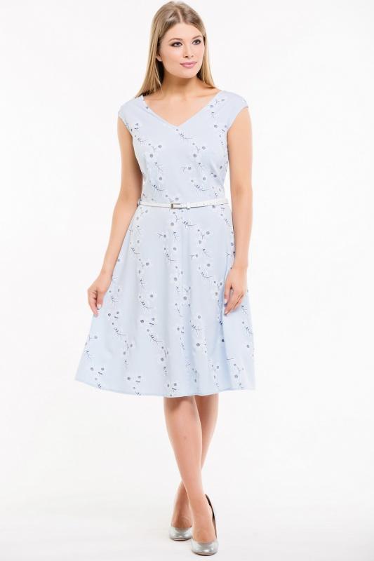 Платье с ремнем 7491