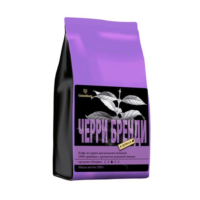 1165-250 Кофе в зернах ароматизированный Черри бренди 250 г
