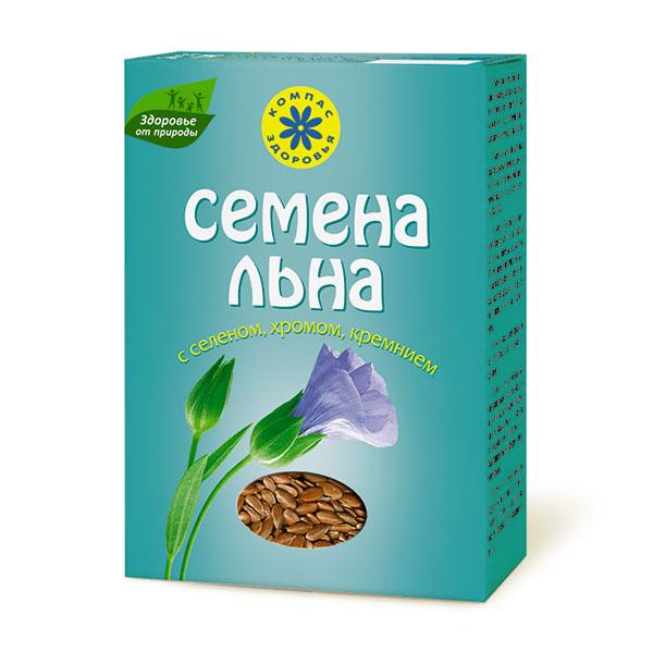 """Семена льна """"Компас Здоровья"""" с селеном, хромом, кремнием 200 г"""