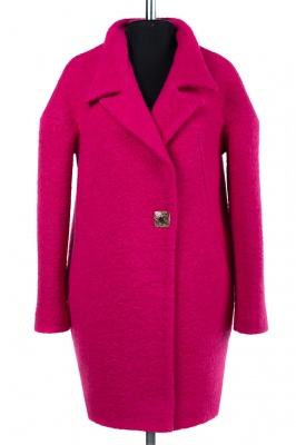 01-6695 Пальто женское демисезонное Букле Фуксия