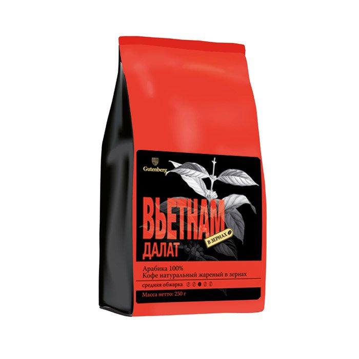 1219-250 Кофе в зернах Вьетнам Далат 250 г