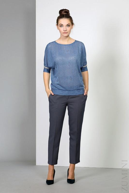 Блуза EOLA 1375 серо-синий