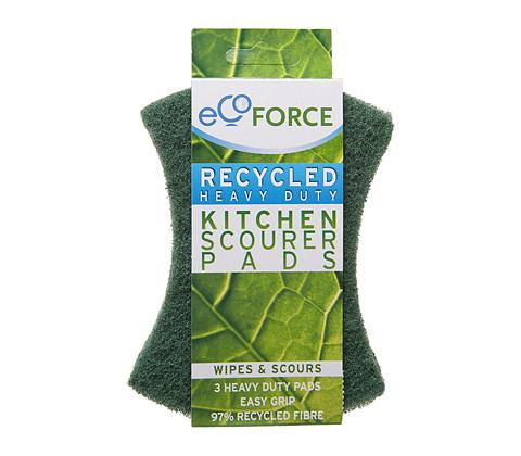 Кухонные губки зеленые Экофорс 3 шт.