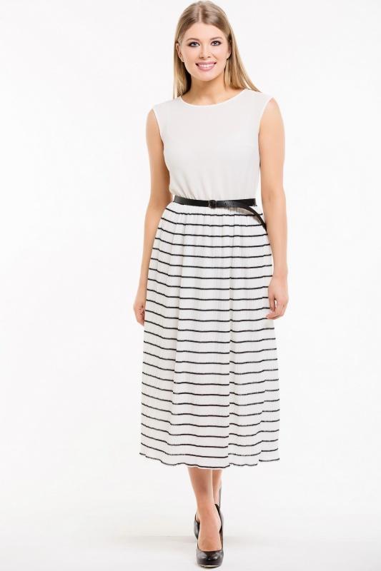 Платье с ремнем 7484