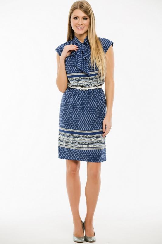 Платье с ремнем 7412