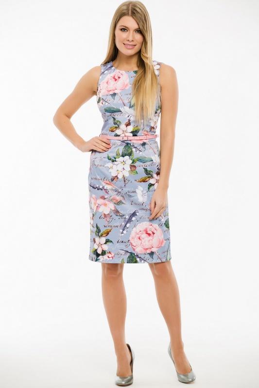 Платье с ремнем 7430