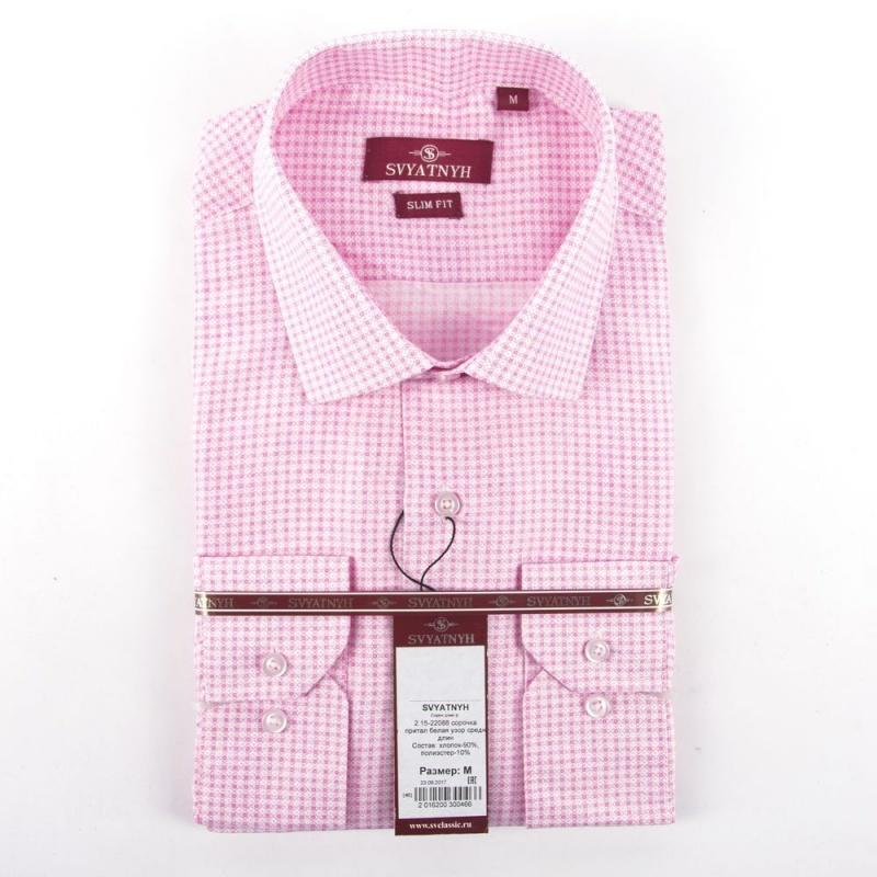 сорочка притал розовая узор средн длин