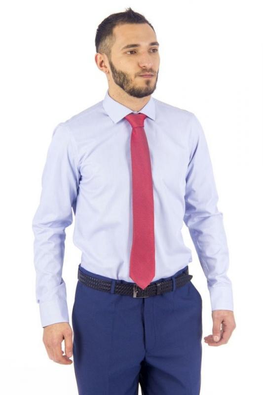 2.05-210 сорочка притал голубая микрополоса длин