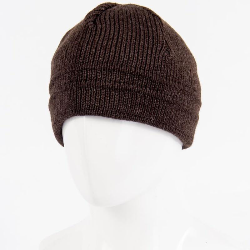1.05-915-02 шапка корич. тёплая без отворота