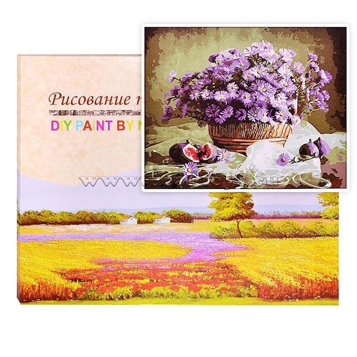 Картина по номерам Корзина хризантем
