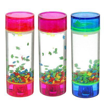 """песочно-водный антистресс \""""Цветной аквариум\"""", с подсветкой, микс, 15,5*5*5см"""