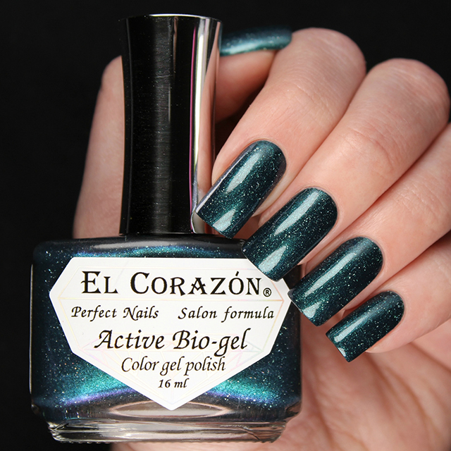 "EL Corazon® Active Bio-gel Color gel polish ""Peacock\'s tail\"" №423/1061"
