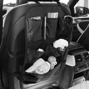 Защита для спинки сиденья + Органайзер для автомобиля, 6 карманов, Черный