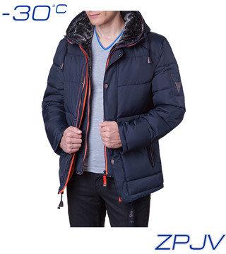 Куртка теплая мужская ZPJV-879 темно-синий