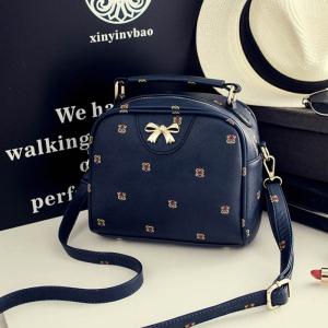 BG-9-BLUE Милая небольшая сумочка с вышивкой
