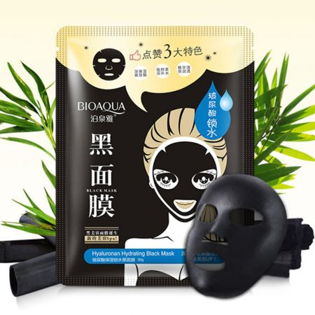 Маска для лица black mask bioaqua Hyaluronan Hydrating (в пакете)