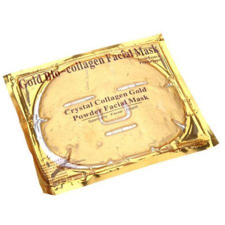 Маска золотая коллагеновая на все лицо Gold Bio Collagen Crystal Facial Mask