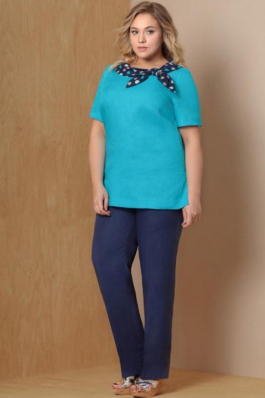 Блуза ArtRibbon 2726T5001 голубая
