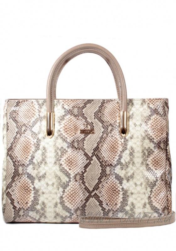 Женская сумка модель 906.2С змея, беж-сер цвет,  Р767-4/20671