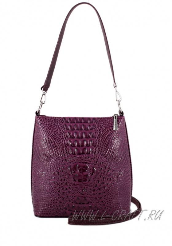 Модель №1284 | кожзам | крокодил | фиолетовый | Р717-6 | 17815
