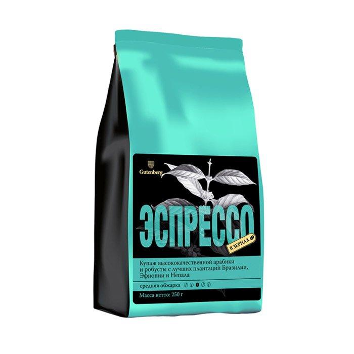 1134-250 Кофе в зернах Эспрессо, уп. 250 г