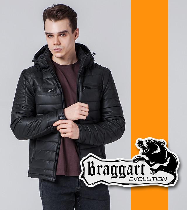 Мужская весенне-осенняя куртка 7033 черная 54