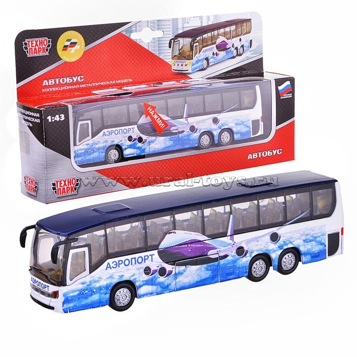 Автобус металл. (открыв.двери,свет+звук)
