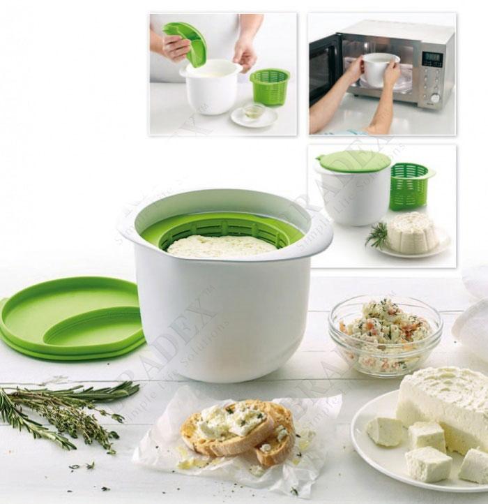 """Аппарат для приготовления домашнего творога и сыра в СВЧ \""""Нежное лакомство\"""" Bradex TK 0192"""