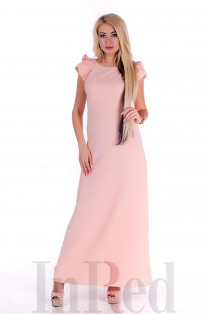 "InRed: Платье \""Кристин\"" длинное персиковое Артикул: 7302"