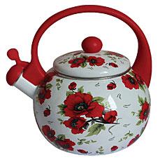 Чайник эмалированный со свистком Mercury, 2,5 л. MC-6549