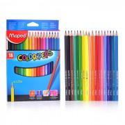 """Карандаши цветные MAPED \""""Color Pep\'s\"""", 18цв, трехгранные, карт. упак., европодвес"""
