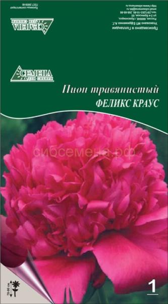 Пион травянистый Феликс Краусс 1шт СдС