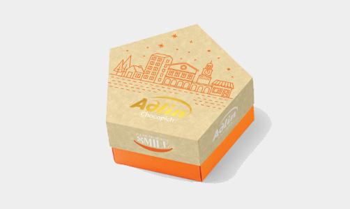 """Конфеты из пашмалы со вкусом миндаля в шоколадной глазури в упаковке Star Box """"Adlin""""-150 г"""