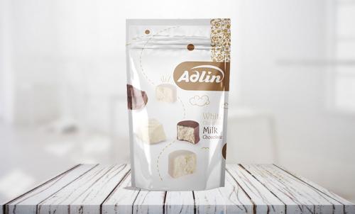 Конфеты из пашмалы ассорти с молочным вкусом в белой глазури и вкусом ванили в шоколадной глазури 350 г