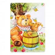 """Мини пазл """"Медвежонок и мед"""""""