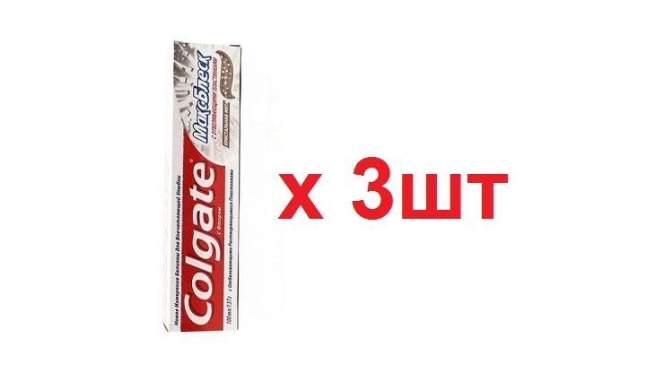 Colgate зубная паста 100мл Макс Блеск с отбеливающими пластинками 3шт