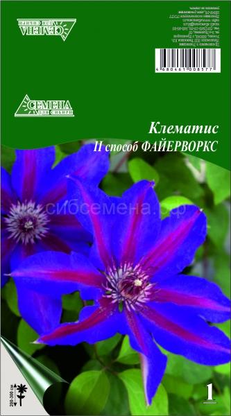 Клематисы Файерворкс (2сп) ОКС 1шт СдС