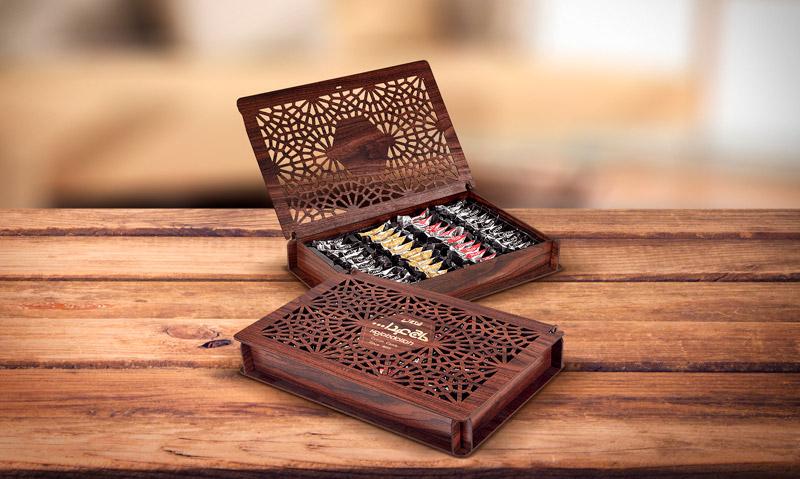 Конфеты из пашмалы ассорти в подарочной деревянной упаковке 200 г