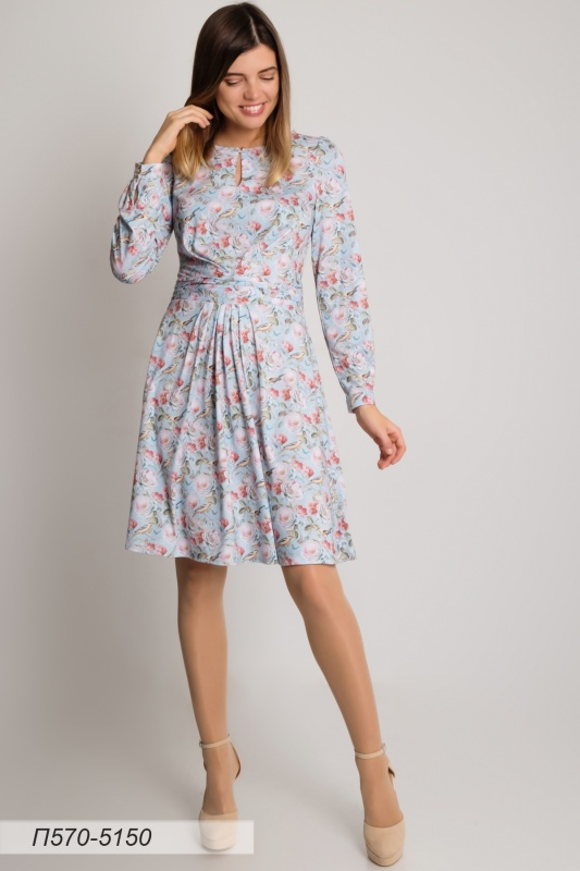 Платье 570 тр-ж голубой Прованс