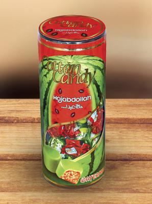 """Конфеты из пашмалы со вкусом арбуза во фруктовой глазури в тубе """"Hajabdollah"""" 200 г"""