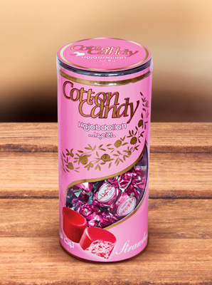 Конфеты из пашмалы со вкусом клубники во фруктовой глазури в тубе 200 г