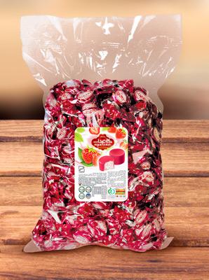 Конфеты из пашмалы со вкусом клубники во фруктовой глазури 1 кг