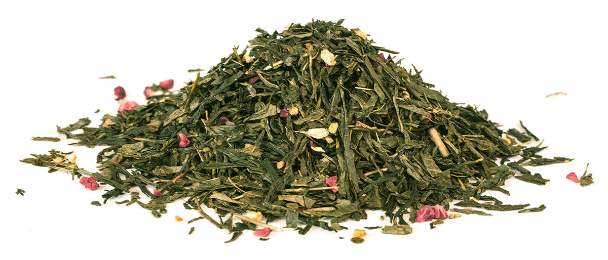 """35045 Чай зеленый ароматизированный """"С имбирем и малиной"""" 250 г"""