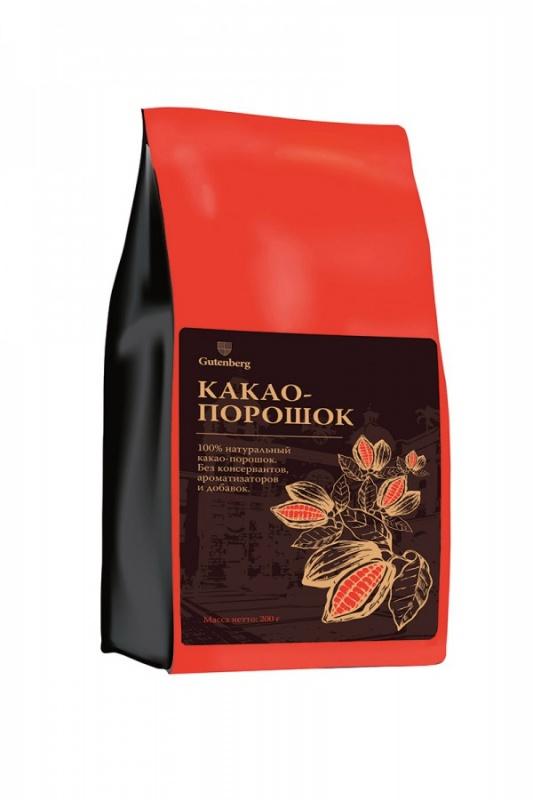 1601 100% натуральный какао-порошок, уп. 200 г