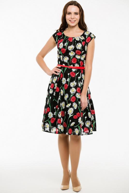 Платье с ремнем 7416
